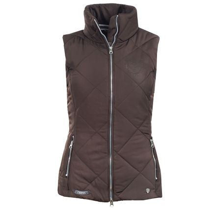 Horze Christina Padded Vest in Dark Brown - Saratoga Saddlery & International Boutiques