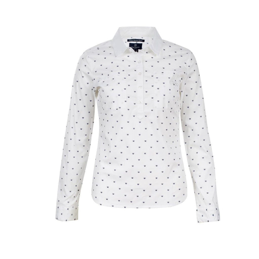 Horze Crescendo Women's Rachel Cotton Shirt in White