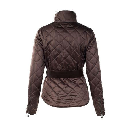 Horze Crescendo Women's Amelia Quilted Jacket in Dark Brown