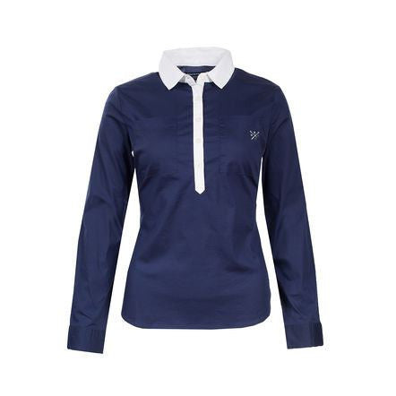 Horze Crescendo Women's Rachel Cotton Shirt in Dark Blue