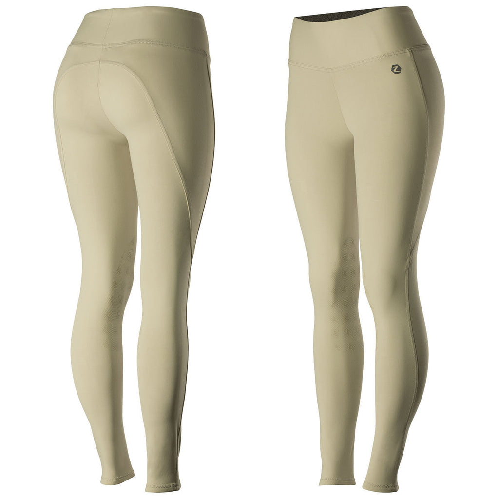 Horze Juliet Women's HyPer Flex Tights KP - Light Brown LBR