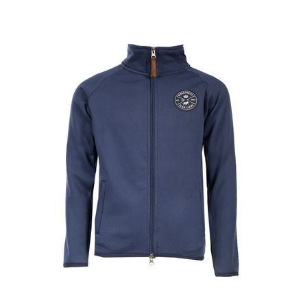 Horze Kids Kendall Fleece Jacket in Navy