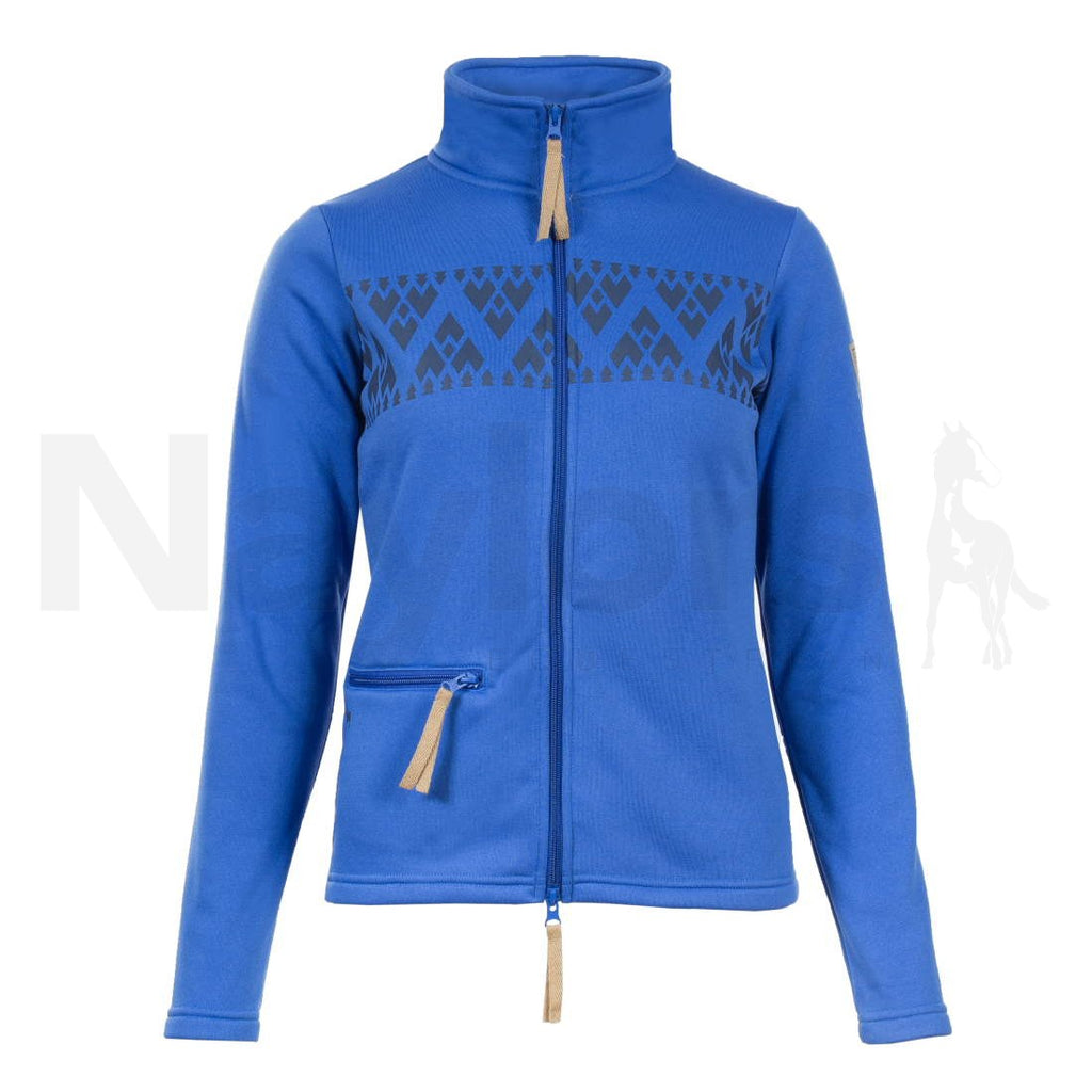 Horze Spirit Ladies Delia Fleece Jacket Lapis Lazuli Blue
