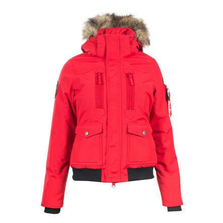 Horze Supreme Women's Brenda Short Parka Jacket in Red - Saratoga Saddlery