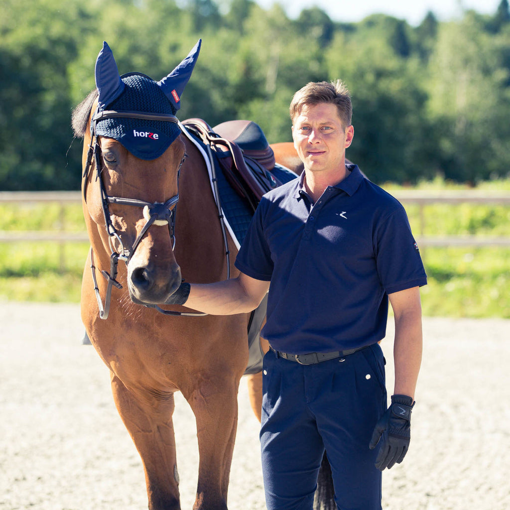 Horze TIM Men's Polo Shirt Navy - Saratoga Saddlery & International Boutiques