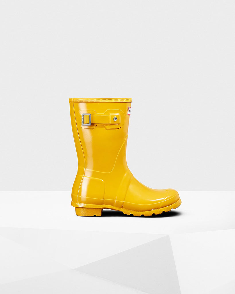 Hunter Orginal Short Gloss Rain Boot Yellow