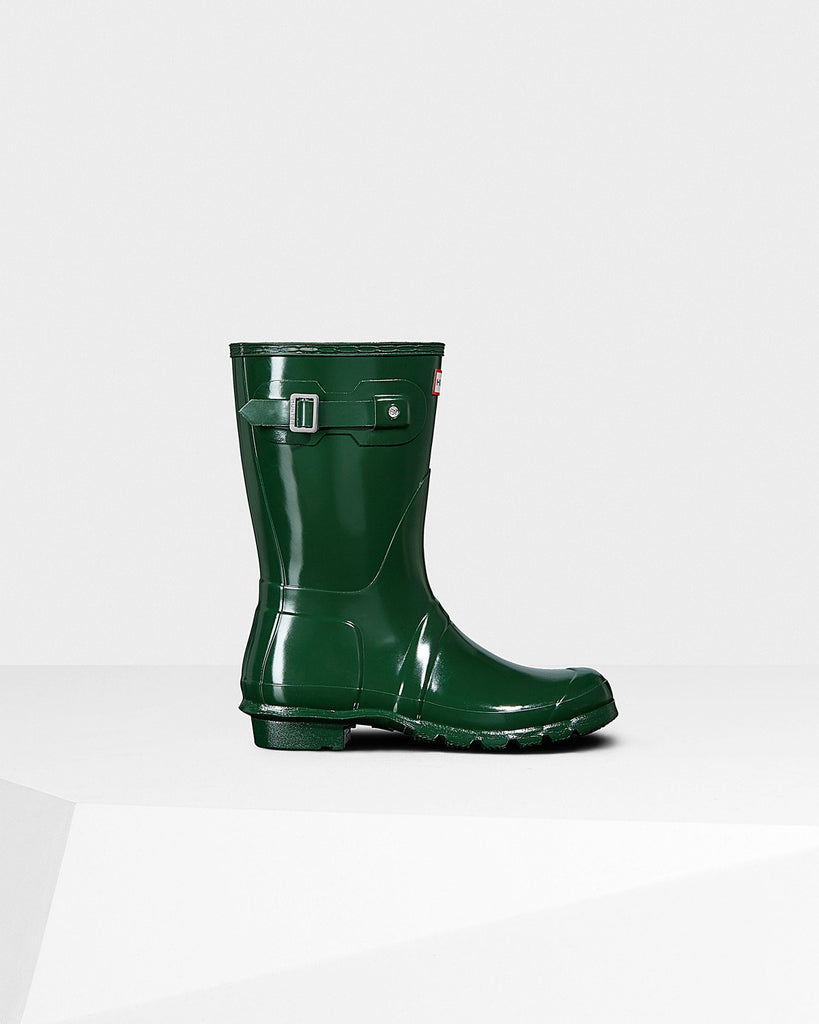 Hunter Original Short Gloss Rain Boot Green Gloss