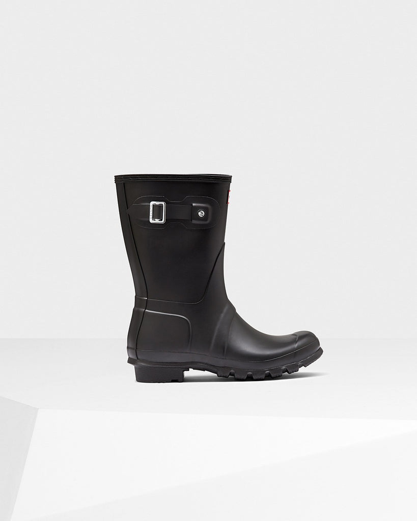 Hunter Original Short Matte Rain Boots Black