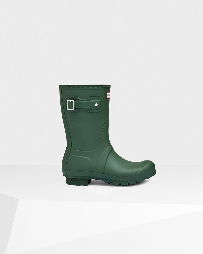 Hunter Original Short Matte Rain Boots Hunter Green