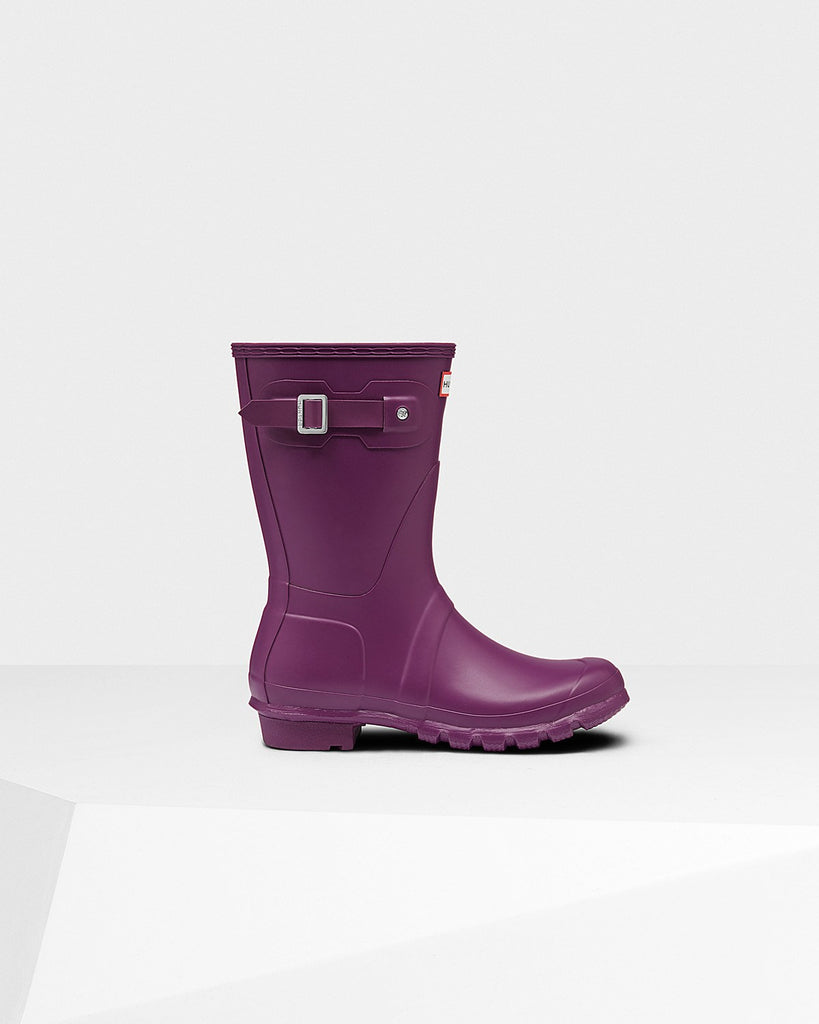 Hunter Original Short Matte Rain Boots Violet