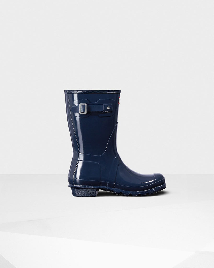Hunter Orginal Short Gloss Rain Boot Navy