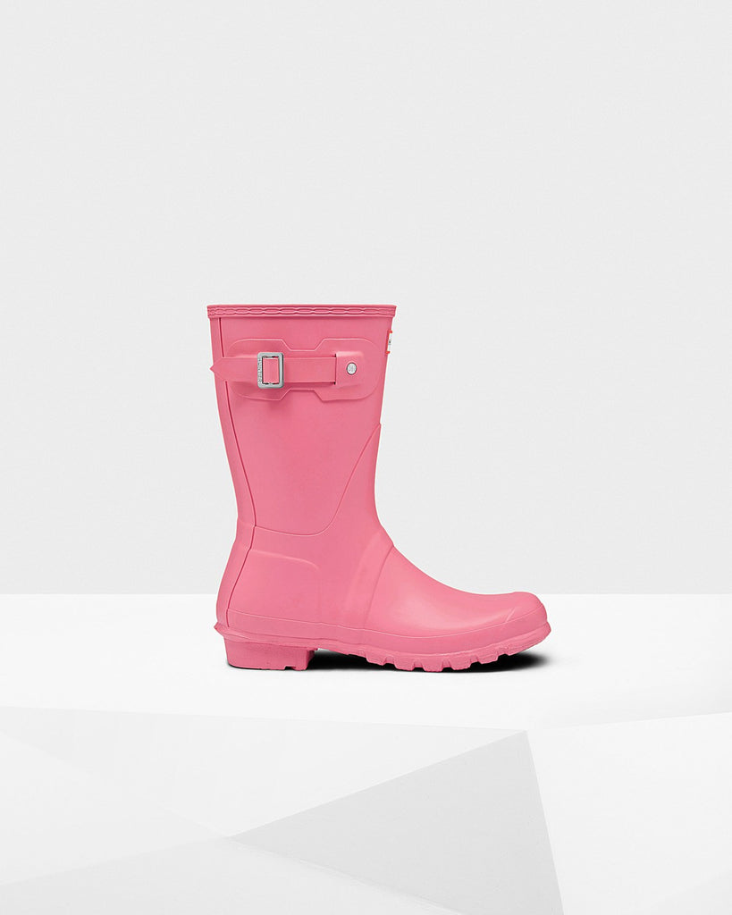 Hunter Original Short Matte Rain Boots Pink