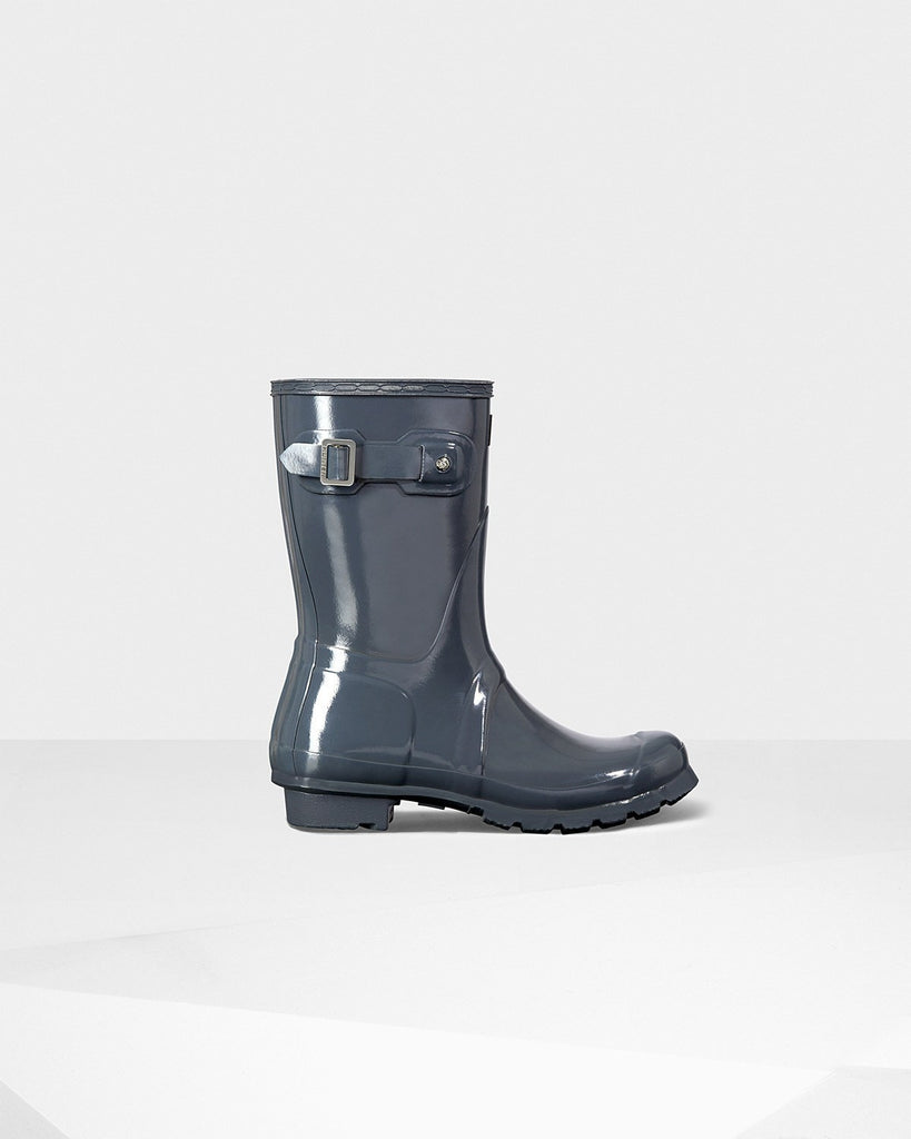 Hunter Orginal Short Gloss Rain Boot Graphite