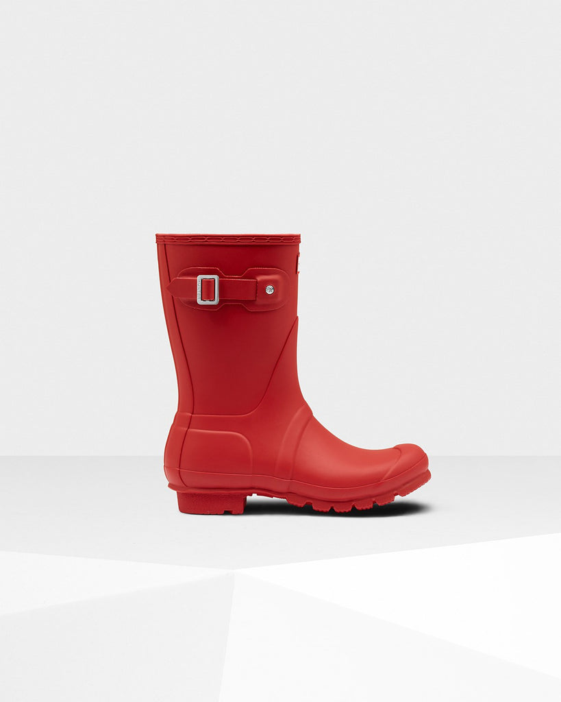 Hunter Original Short Matte Rain Boots Military Red