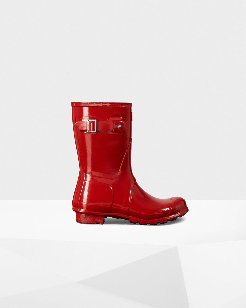Hunter Original Short Gloss Rain Boot Military Red