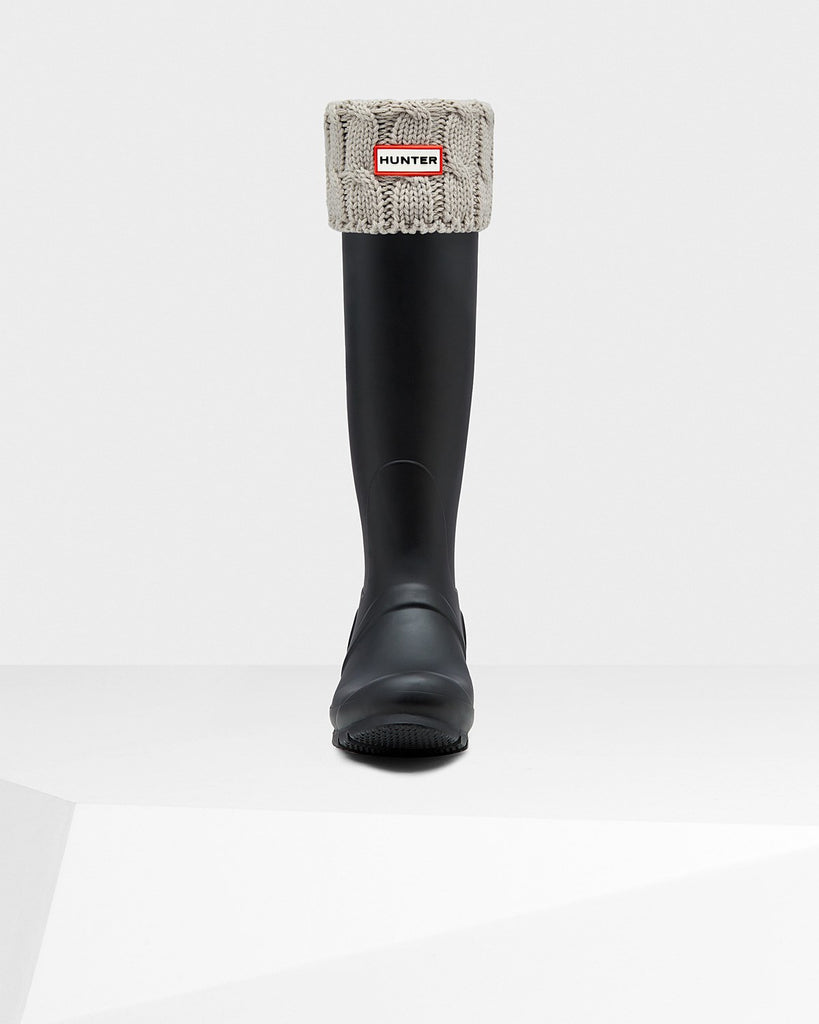 Hunter Original Tall Six-Stitch Cable Boot Socks in Greige - Saratoga Saddlery