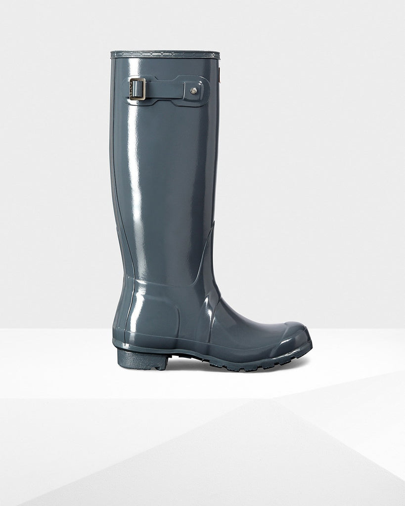 Hunter Original Tall Gloss Rain Boots Graphite