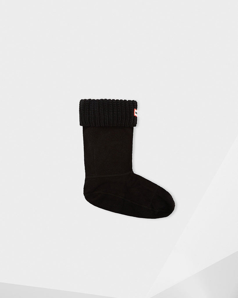 Hunter Short Half Cardigan Boot Socks in Black - Saratoga Saddlery