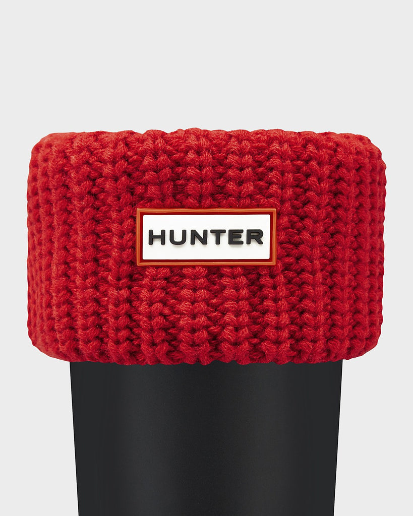 Hunter Short Half Cardigan Boot Socks in Red - Saratoga Saddlery