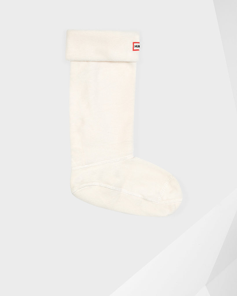 Hunter Tall Fleece Boot Socks in Cream - Saratoga Saddlery