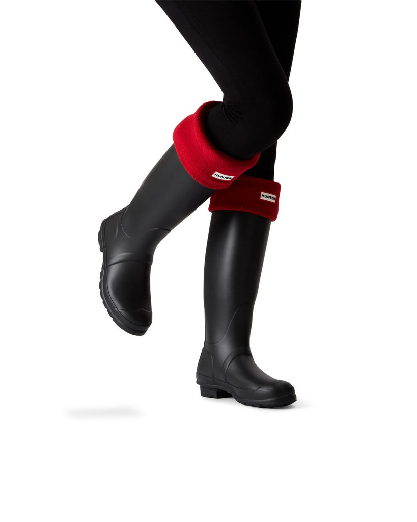 Hunter Tall Fleece Boot Socks in Military Red - Saratoga Saddlery
