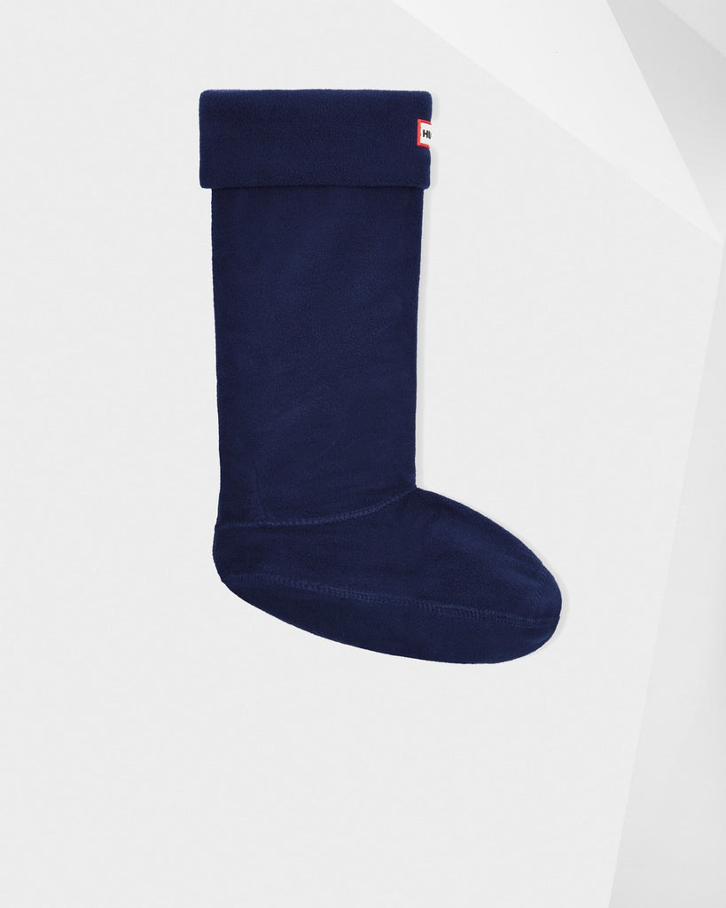 Hunter Tall Fleece Boot Socks in Navy - Saratoga Saddlery