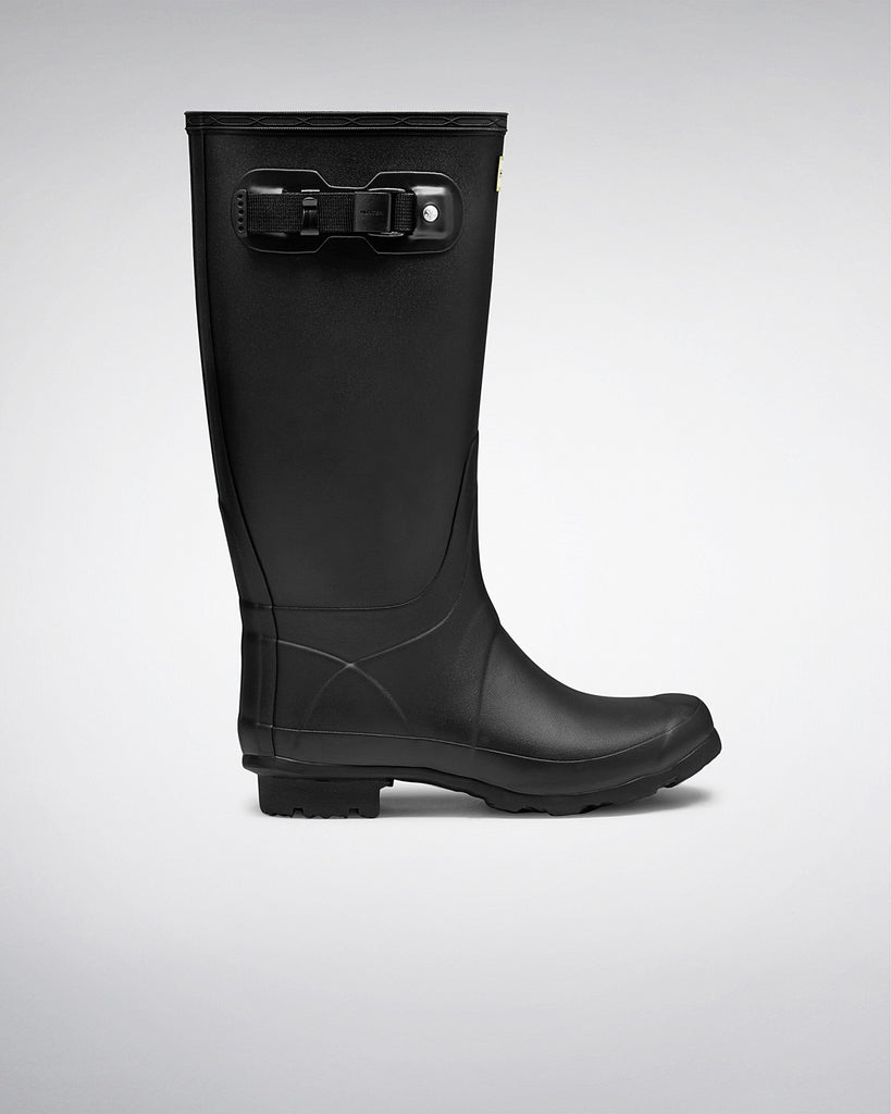 Huntress Wider Calf Rain Boots - Black - Saratoga Saddlery