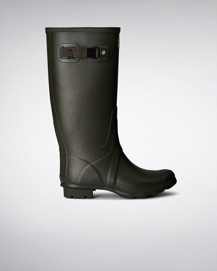 Huntress Wider Calf Rain Boots - Dark Olive - Saratoga Saddlery