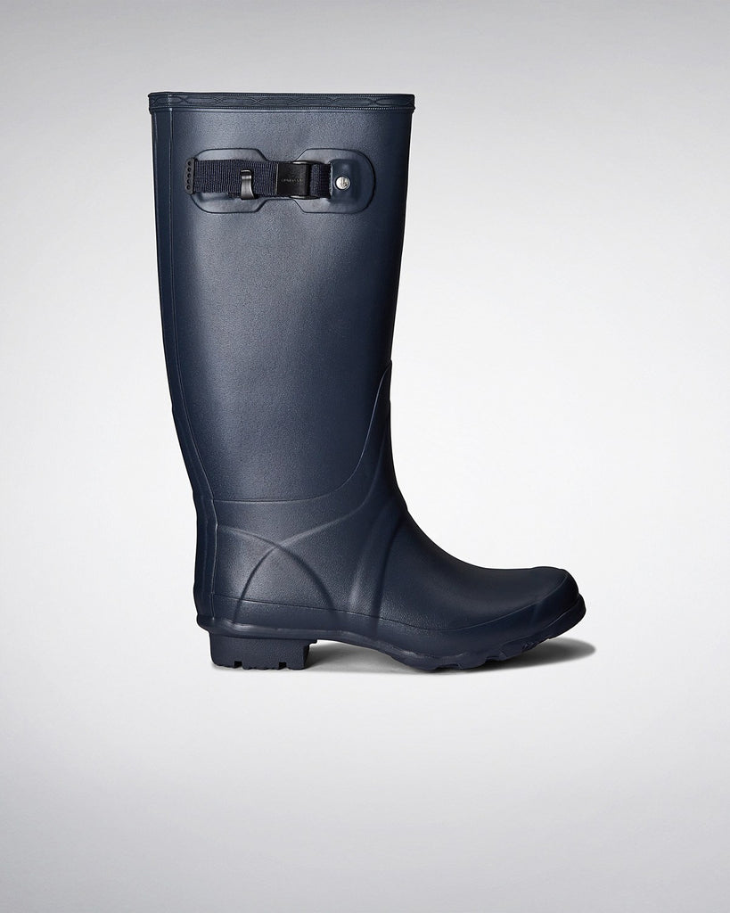 Huntress Wider Calf Rain Boots - Navy - Saratoga Saddlery