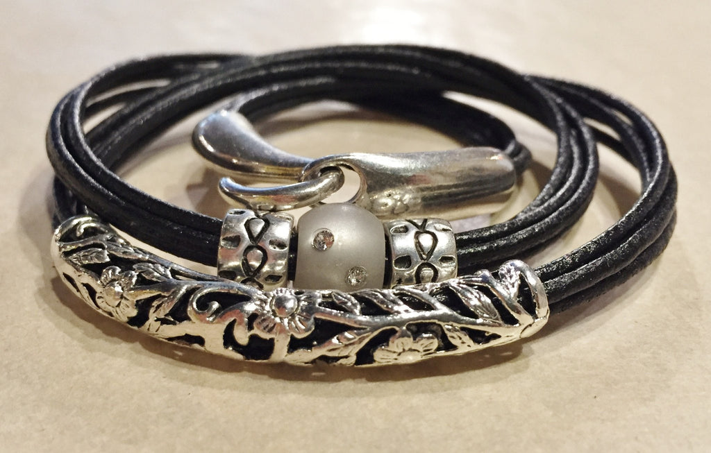 Lilly's Allure Triple Wrap Leather Bracelet