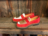 Ammann Interlaken Shoe in Red Suede with Tan/White Calf Hair - Saratoga Saddlery & International Boutiques
