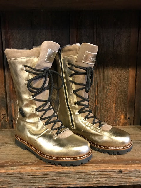 Ammann Malix Boot in Metallic Gold Leather