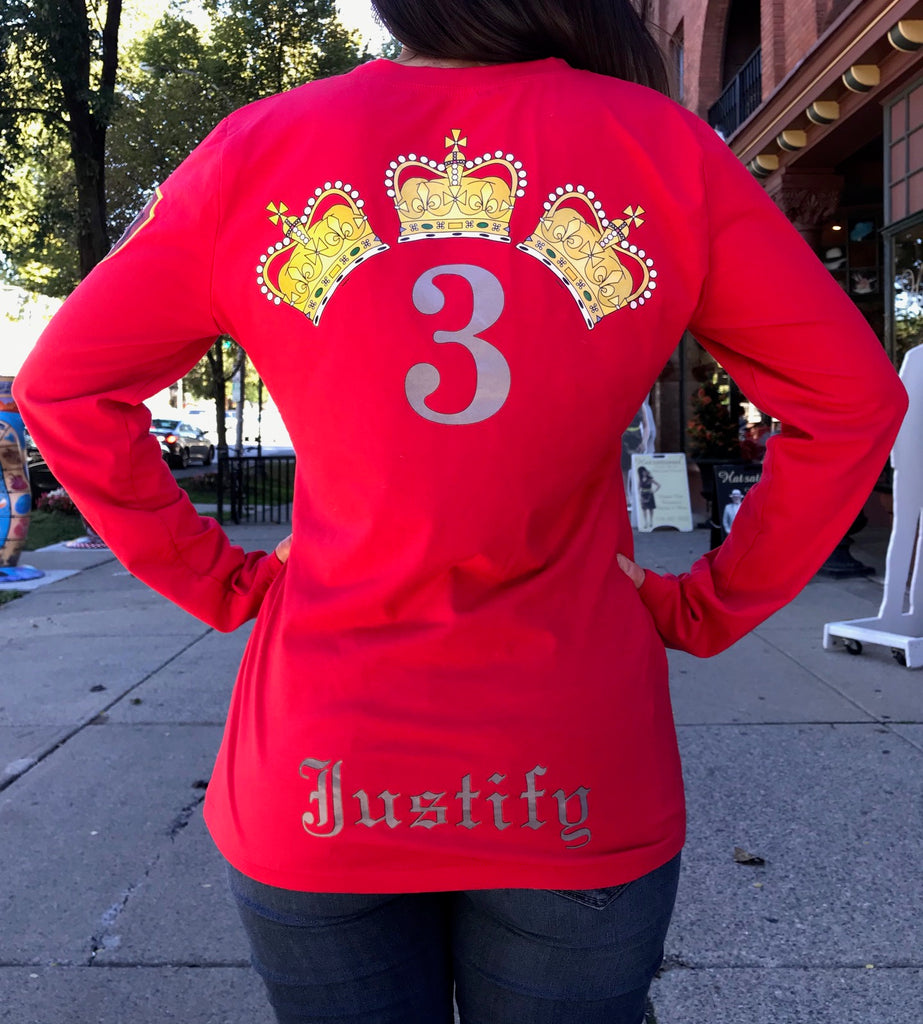 Saratoga Saddlery Women's Triple Crown Long Sleeve Shirt - Justify Edition