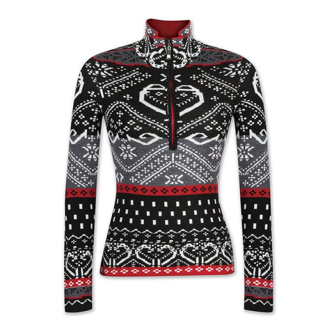 Krimson Klover Rosi Quarter Zip Sweater in Snow