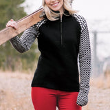 Icelandic Design Tulip Half Zip Sweater - Saratoga Saddlery & International Boutiques