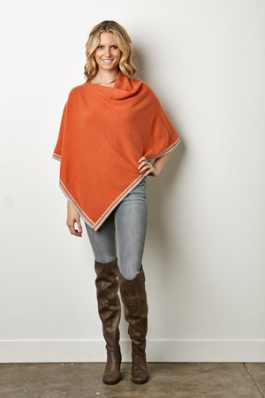 IsleField Vendela Ruana Silk Cashmere Poncho - Saratoga Saddlery & International Boutiques