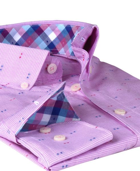 James Tattersall Men's Dress Shirt in Pink JWL006