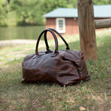 Moore & Giles James Club Bag in Titan Milled Brown