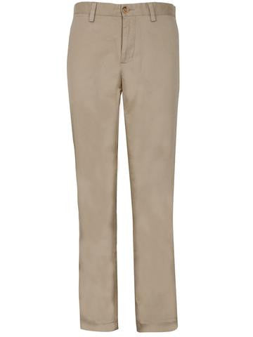 James Tattersall Pima Flat Front Pant in Ivory