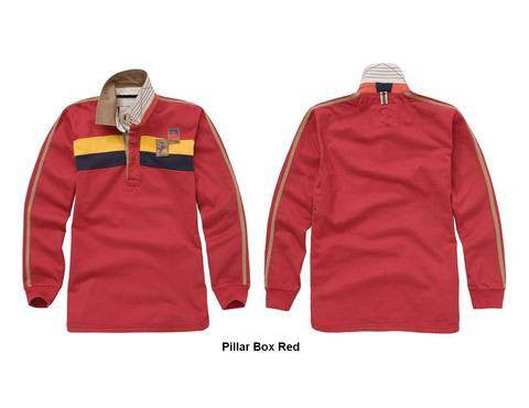 Joules Flex Men's Rugby Shirt in Ink Red - Saratoga Saddlery & International Boutiques