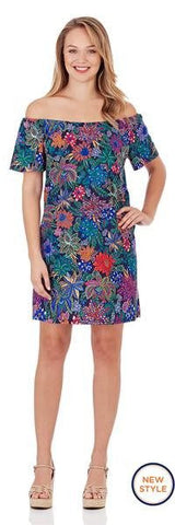 Jude Connally Willow Shift Dress in Wildflower Mini Fuchsia