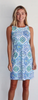 Jude Connally Womens Beth Dress in Mosaic Tile Periwinkle - Saratoga Saddlery & International Boutiques
