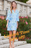 Jude Connally Womens Kerry Dress in Mosaic Tile Periwinkle ON SALE - Saratoga Saddlery & International Boutiques