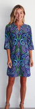 Jude Connally Womens Megan Dress in wild Paisley Navy/Periwinkle ON SALE - Saratoga Saddlery & International Boutiques