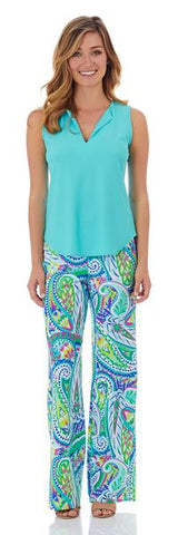 Jude Connally Morgan Skort in Ocean Abstract Aqua - FINAL SALE