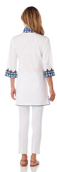Jude Connally Ariana Cotton Voile Tunic Top in White SALE! - Saratoga Saddlery & International Boutiques
