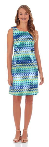 Jude Connally Beth Shift Dress in Linked Chain Multi - FINAL SALE - Saratoga Saddlery & International Boutiques