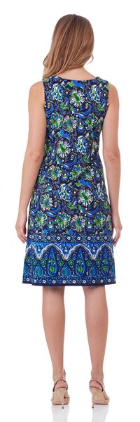 Jude Connally Beth Shift Dress in Baha Floral Navy - LONG - FINAL SALE