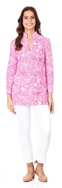 Jude Connally Chris Tunic Top in Hidden Tigers Pink - FINAL SALE - Saratoga Saddlery & International Boutiques
