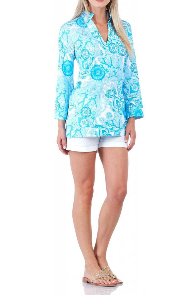Jude Connally Chris Tunic in Captiva Paisley Turquoise